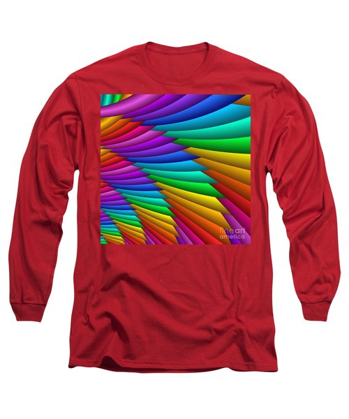 Fractalized Colors -8- Long Sleeve T-Shirt