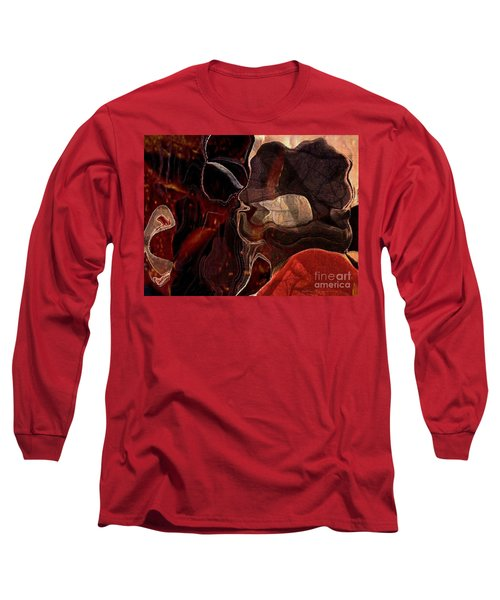 Fragments Of Memory Long Sleeve T-Shirt by Kathie Chicoine