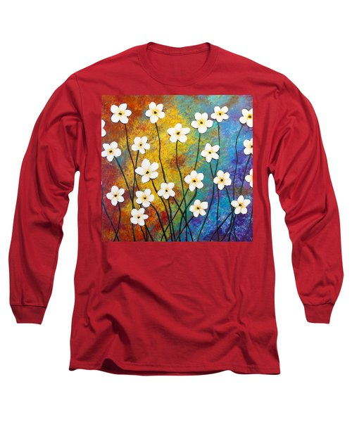 Frangipani Explosion Long Sleeve T-Shirt by Teresa Wing