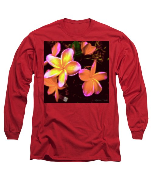 Frangipanis On The Glow Long Sleeve T-Shirt