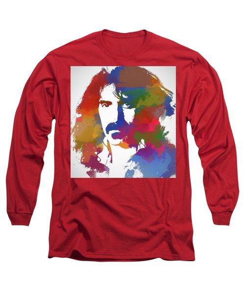 Frank Zappa Watercolor Long Sleeve T-Shirt