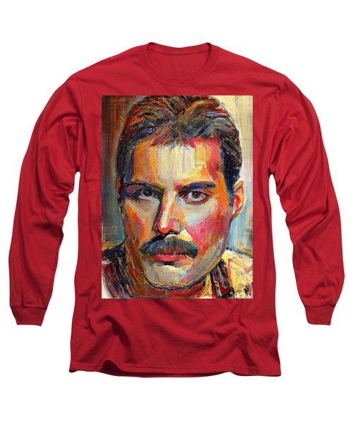 Freddie Mercury Colorful Portrait Long Sleeve T-Shirt