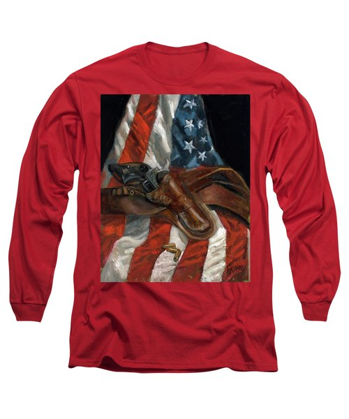 Long Sleeve T-Shirt featuring the painting Freedom by Billie Colson
