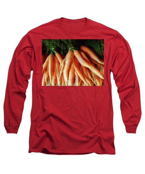 Fresh Carrots From The Summer Garden Long Sleeve T-Shirt by GoodMood Art