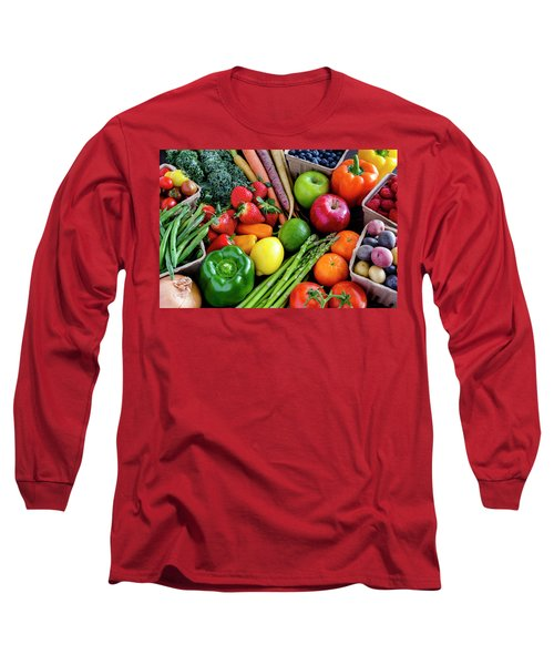 Fresh From The Farm Long Sleeve T-Shirt by Teri Virbickis