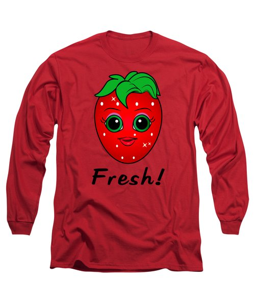 Fresh Strawberry Long Sleeve T-Shirt by A