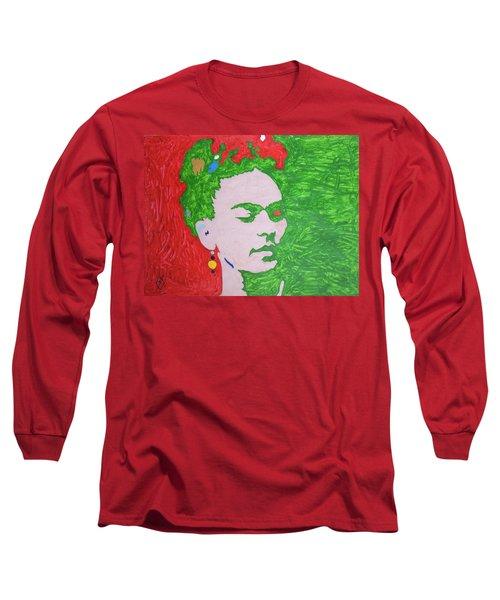 Frida Kahlo Long Sleeve T-Shirt by Stormm Bradshaw