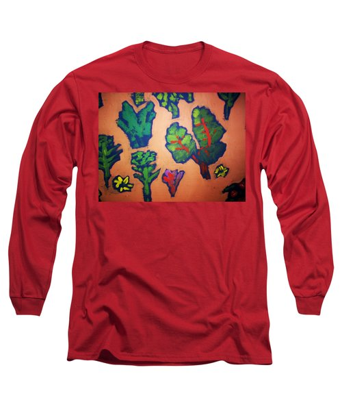 Long Sleeve T-Shirt featuring the painting From The Earth 2 by Winsome Gunning