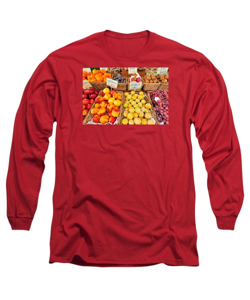 Long Sleeve T-Shirt featuring the photograph Fruits by Marwan Khoury