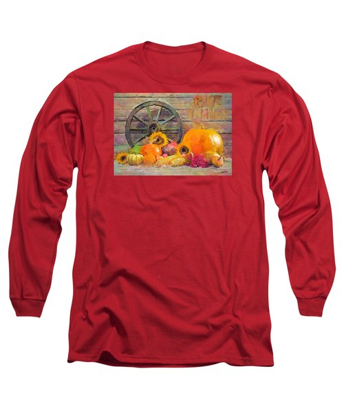 Long Sleeve T-Shirt featuring the painting Fruits Of Thanks by Wayne Pascall