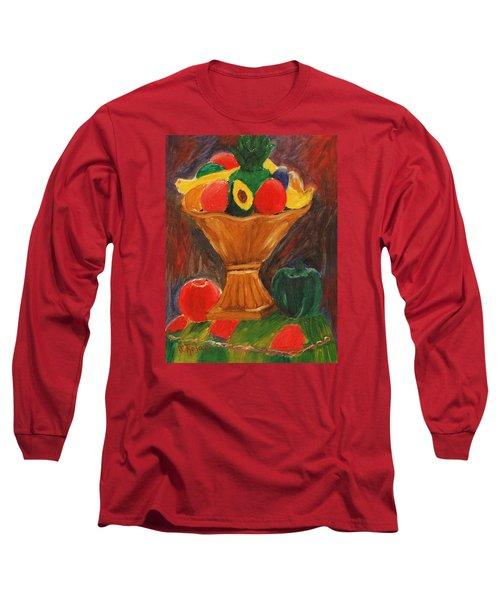 Fruits Still Life Long Sleeve T-Shirt by Jose Rojas