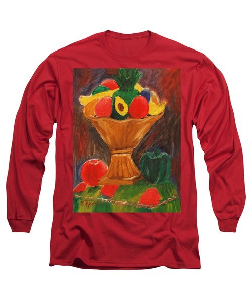 Fruits Still Life Long Sleeve T-Shirt