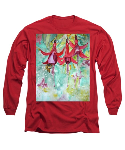 Fuchsia Long Sleeve T-Shirt by Jasna Dragun