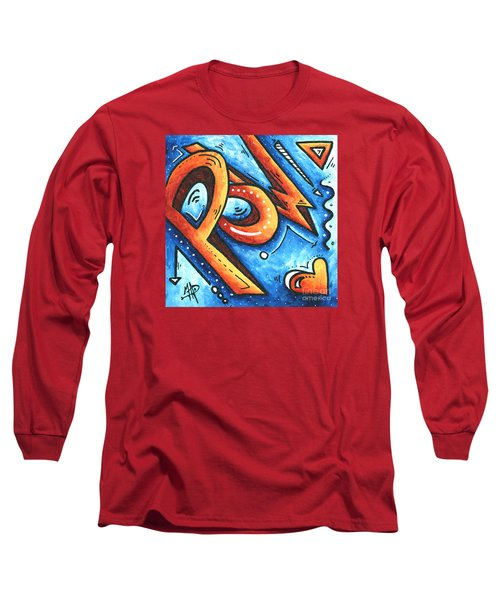 Fun Funky Contemporary Pop Art Pow Hearts And More By Madart Long Sleeve T-Shirt