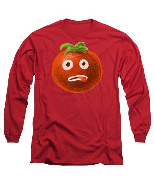 Funny Tomato Long Sleeve T-Shirt by Boriana Giormova