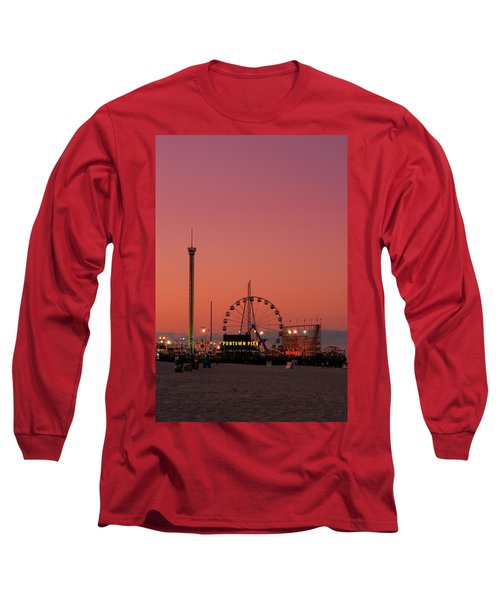 Funtown Pier At Sunset II - Jersey Shore Long Sleeve T-Shirt