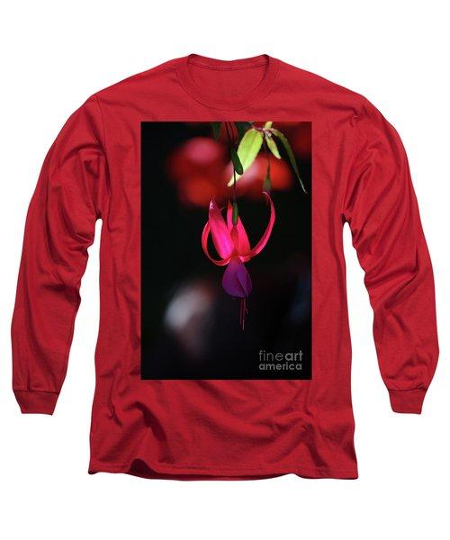 Fuschia Backlit Buchart Gardens Victoria Long Sleeve T-Shirt