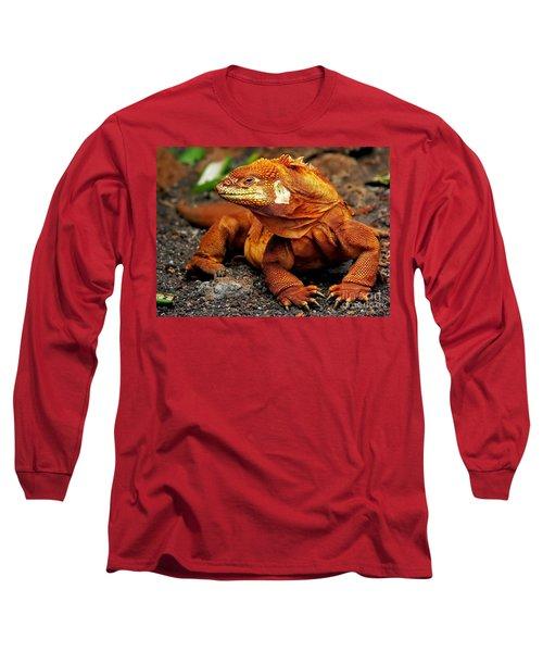 Galapagos Iguana Long Sleeve T-Shirt by Rod Jellison