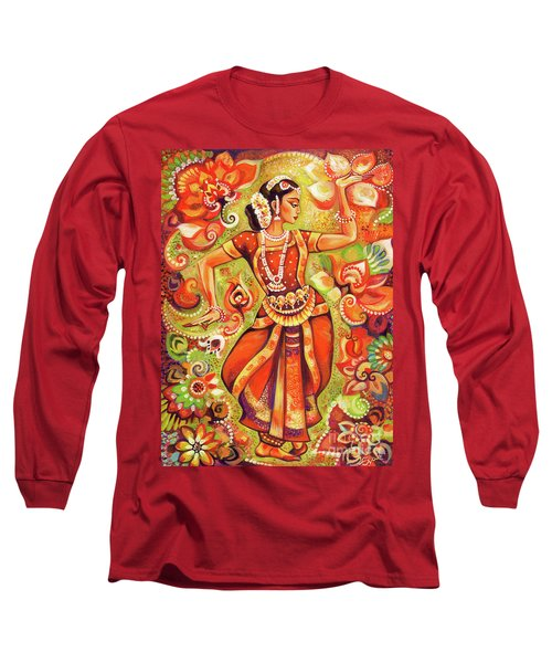 Long Sleeve T-Shirt featuring the painting Ganges Flower by Eva Campbell