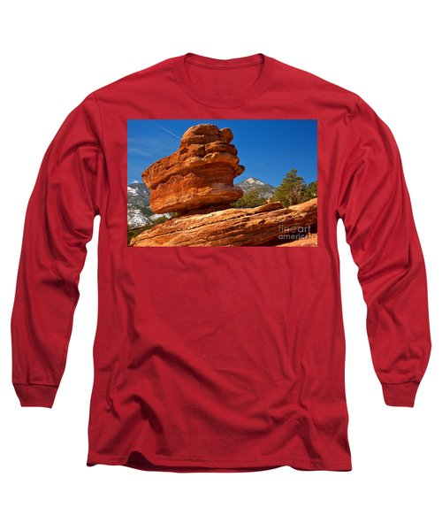 Long Sleeve T-Shirt featuring the photograph Garden Of The Gods Balanced Rock by Adam Jewell