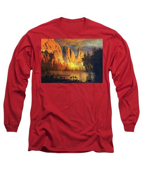 Garden Of The Gods Majesty At Sunset Long Sleeve T-Shirt by John Hoffman