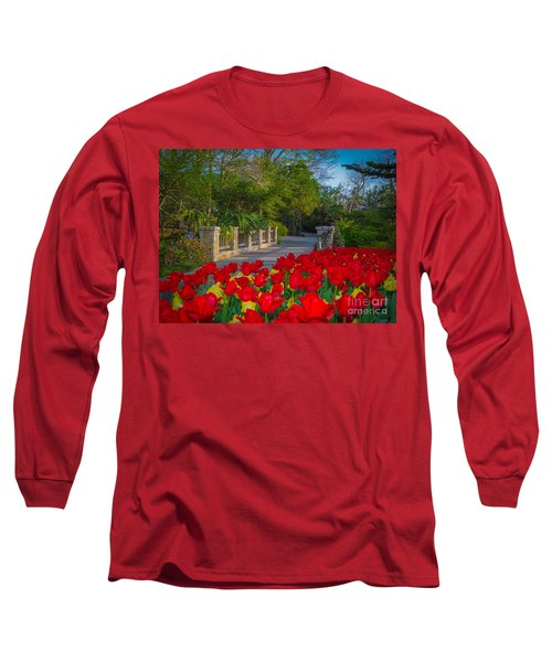 Garden Tulips Along The Trail Long Sleeve T-Shirt