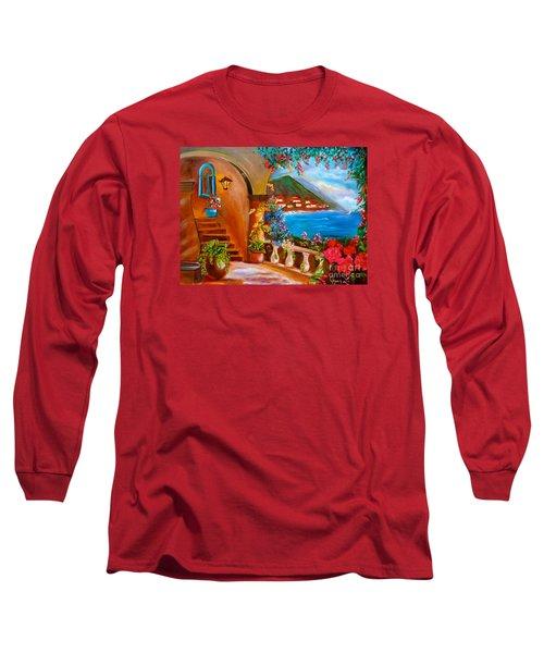 Garden Veranda 1 Long Sleeve T-Shirt by Jenny Lee