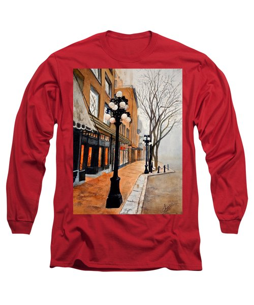 Gastown, Vancouver Long Sleeve T-Shirt by Sher Nasser
