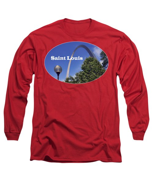 Long Sleeve T-Shirt featuring the photograph Gateway Arch - Saint Louis - Transparent by Nikolyn McDonald