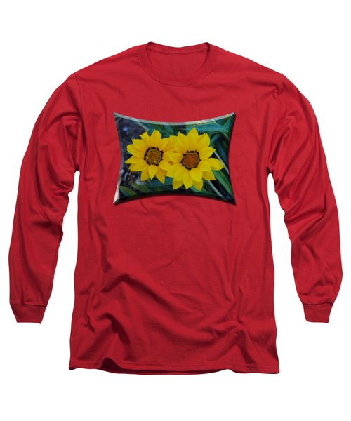 Gazania Rigens - Treasure Flower T-shirt Long Sleeve T-Shirt by Isam Awad