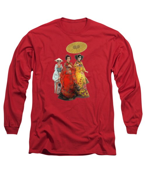 Geisha Stroll Long Sleeve T-Shirt