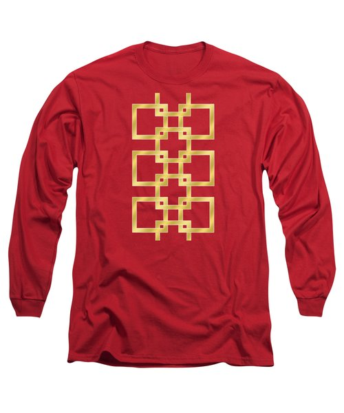 Geometric Transparent Long Sleeve T-Shirt