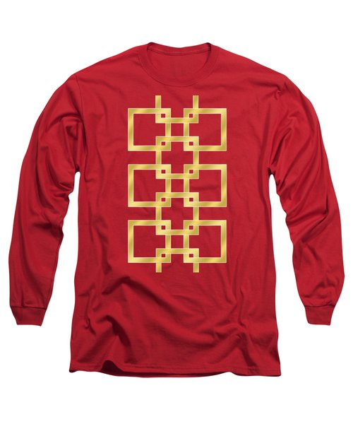 Geometric Transparent Long Sleeve T-Shirt by Chuck Staley
