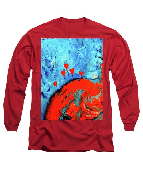 Long Sleeve T-Shirt featuring the painting Germinating Love by Saribelle Rodriguez