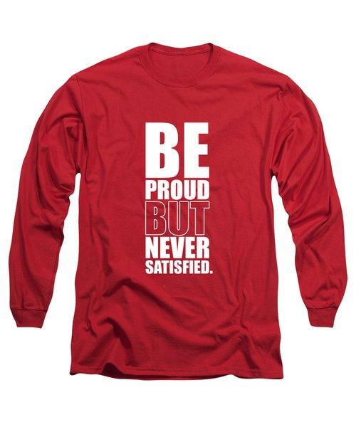 Getting Stronger Each Day Gym Quotes Poster Long Sleeve T-Shirt