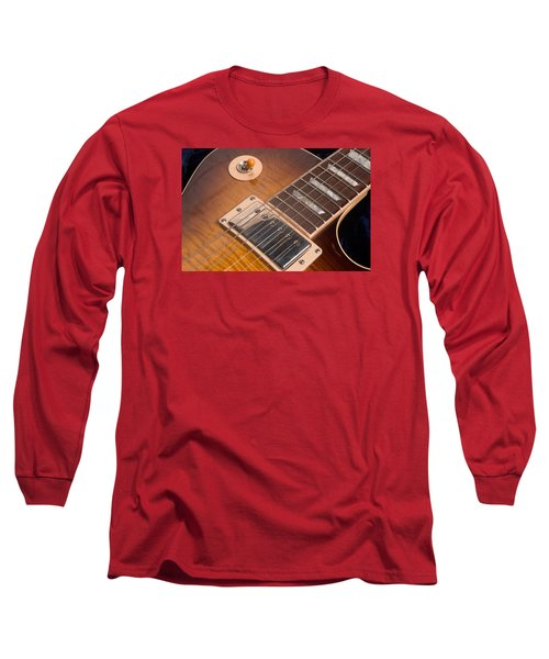 Gibson Les Paul Guitar By Gene Martin Long Sleeve T-Shirt