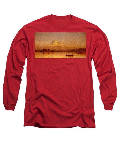 Gifford Sanford Robinson Mount Rainier Bay Of Tacoma Long Sleeve T-Shirt