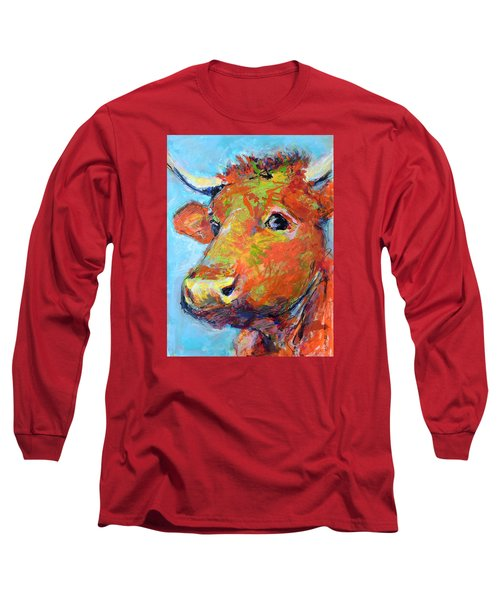Ginger Horn Long Sleeve T-Shirt by Mary Schiros