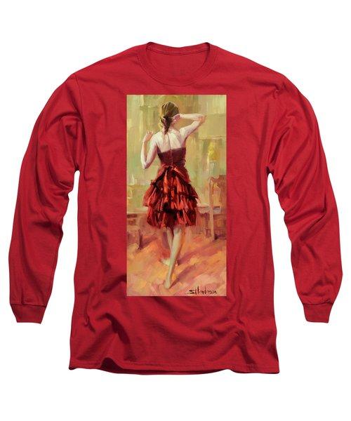 Girl In A Copper Dress IIi Long Sleeve T-Shirt