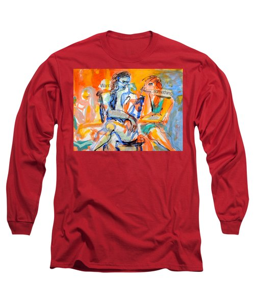 Girl Talk Long Sleeve T-Shirt by Mary Schiros
