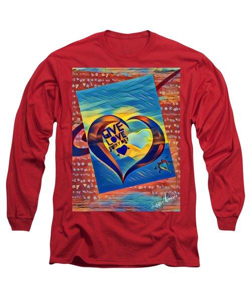 Give Love Long Sleeve T-Shirt by Vennie Kocsis