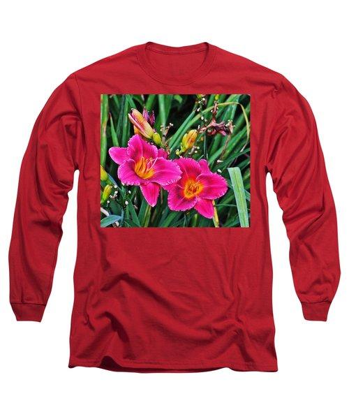Glorious Daylilies Long Sleeve T-Shirt