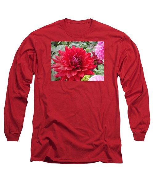 Glory Crimson Dahlia  Long Sleeve T-Shirt
