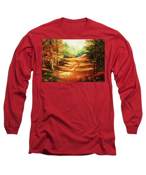 Glory Road In Autumn Long Sleeve T-Shirt by Al Brown