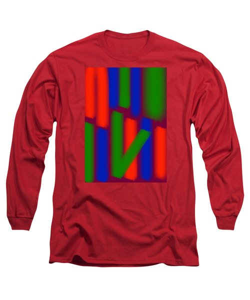 Long Sleeve T-Shirt featuring the digital art Glow Sticks by Karen Nicholson