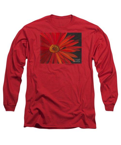 Glowing Gerber Long Sleeve T-Shirt by Phyllis Howard