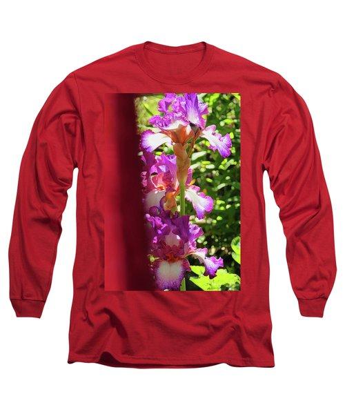 Glowing Iris Tower - Behind The Red Curtain Long Sleeve T-Shirt by Brooks Garten Hauschild