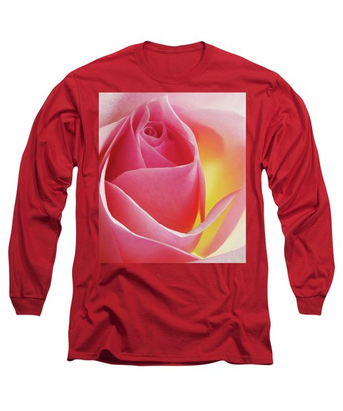 Glowing Pink Rose Long Sleeve T-Shirt