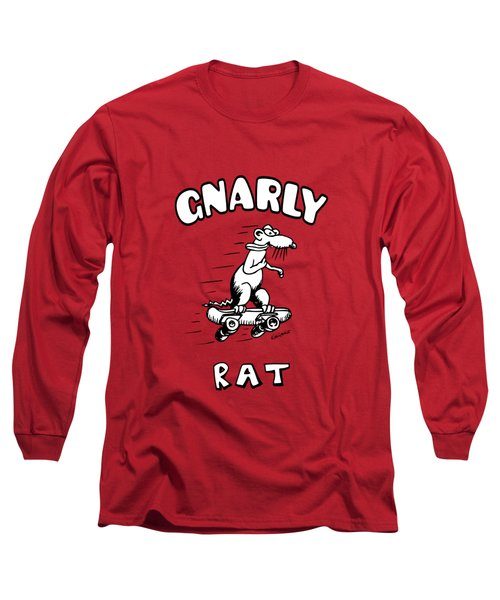 Gnarly Rat Long Sleeve T-Shirt by Kim Gauge