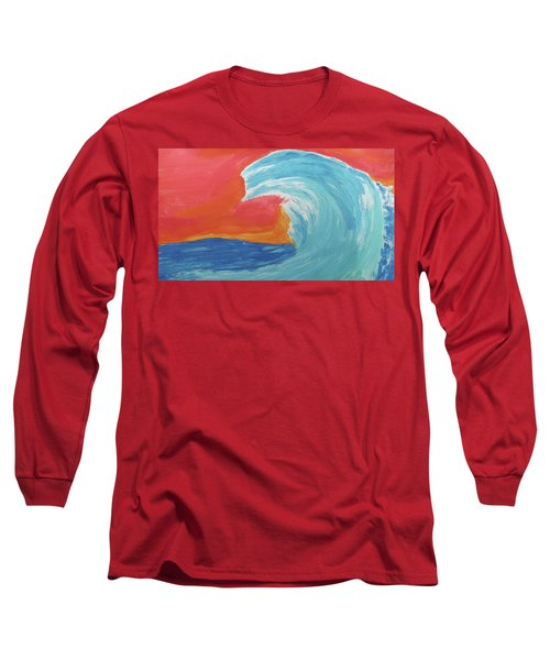 Gnarly Wave  Long Sleeve T-Shirt by Don Koester